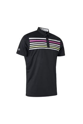 Show details for Abacus Men's Louth Polo Shirt - Black 600