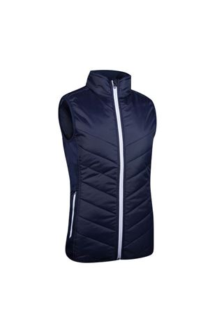 Picture of Sunderland of Scotland Ladies Tania Padded Performance Gilet - Navy / White