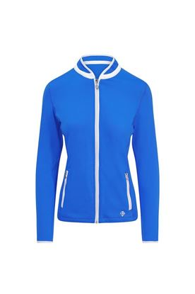Show details for Pure Golf Ladies Mist Plain Midlayer Jacket - Royal Blue