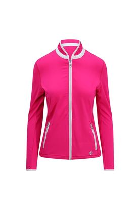 Show details for Pure Golf Ladies Mist Plain Midlayer Jacket - Hot Pink