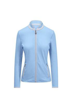 Show details for Pure Golf Ladies Mist Plain Midlayer Jacket - Pale Blue