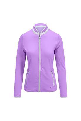 Show details for Pure Golf Ladies Mist Plain Midlayer Jacket - Lilac