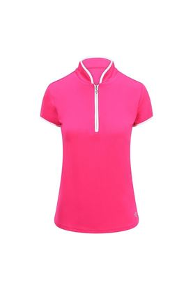 Show details for Pure Golf Ladies Bloom Cap Sleeve Polo Shirt - Hot Pink