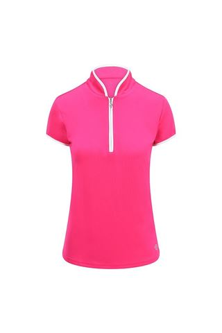 Picture of Pure Golf Ladies Bloom Cap Sleeve Polo Shirt - Hot Pink