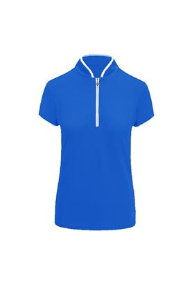 Show details for Pure Golf Ladies Bloom Cap Sleeve Polo Shirt - Royal Blue