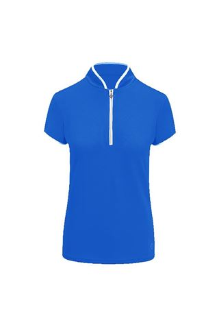 Picture of Pure Golf Ladies Bloom Cap Sleeve Polo Shirt - Royal Blue
