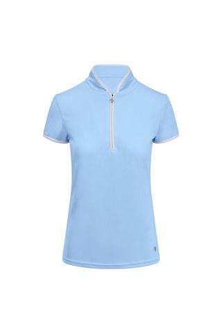 Picture of Pure Golf Ladies Bloom Cap Sleeve Polo Shirt - Pale Blue