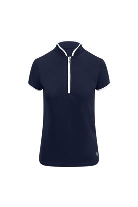 Show details for Pure Golf Ladies Bloom Cap Sleeve Polo Shirt - Navy