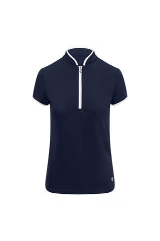 Picture of Pure Golf Ladies Bloom Cap Sleeve Polo Shirt - Navy