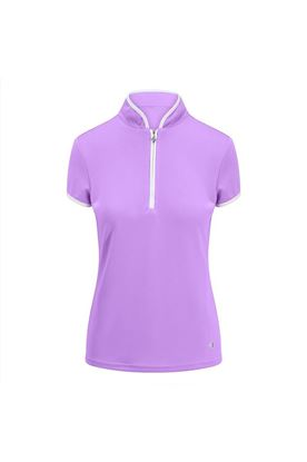 Show details for Pure Golf Ladies Bloom Cap Sleeve Polo Shirt - Lilac
