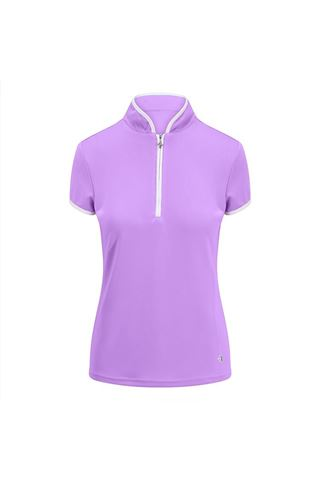Picture of Pure Golf Ladies Bloom Cap Sleeve Polo Shirt - Lilac