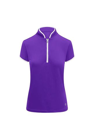 Picture of Pure Golf Ladies Bloom Cap Sleeve Polo Shirt - Purple
