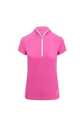 Show details for Pure Golf Ladies Bloom Cap Sleeve Polo Shirt - Azalea Pink