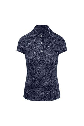 Picture of Pure Golf Ladies Rise Cap Sleeve Polo Shirt - Navy