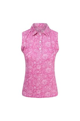Show details for Pure Golf Ladies Rise Sleeveless Polo Shirt - Azalea Pink