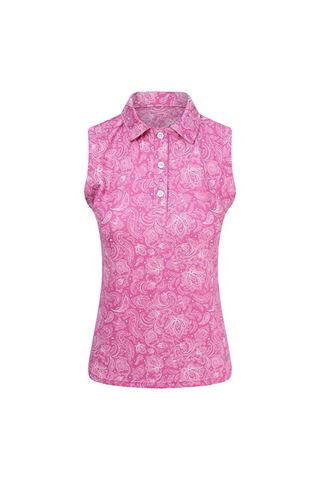 Picture of Pure Golf Ladies Rise Sleeveless Polo Shirt - Azalea Pink
