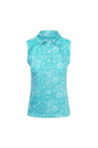 Picture of Pure Golf Ladies Rise Sleeveless Polo Shirt - Ocean Blue