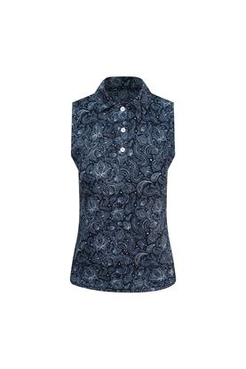 Show details for Pure Golf Ladies Rise Sleeveless Polo Shirt - Navy