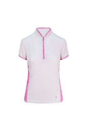 Show details for Pure Golf Ladies Bliss Cap Sleeve Polo Shirt - Azalea Pink