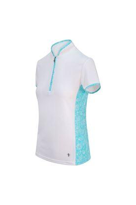 Show details for Pure Golf Ladies Bliss Cap Sleeve Polo Shirt - Ocean Blue