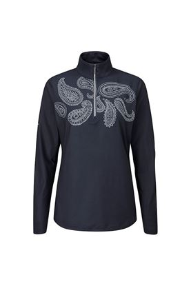 Show details for Ping Ladies Ainsley Half Zip Top - Navy / Prisitine
