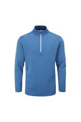 Show details for Ping Men's Ramsey 1/4 Zip Sweater - Delph Blue Marl