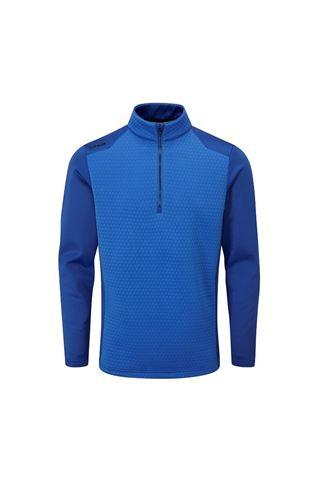 Picture of Ping Golf Men's Mellor Half Zip Fleece - Delph Blue / Delph Blue