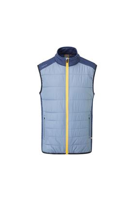 Show details for Ping Golf Men's Dover Vest - Greystone / Oxford Blue