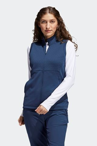 Picture of adidas Women's Primegreen Cold RDY Full Zip Vest / Gilet- Crew Navy