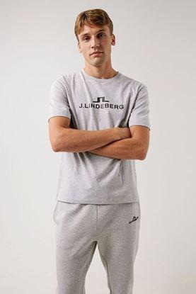 Show details for J.Lindeberg Men's Alpha T-Shirt - Stone Grey Melange