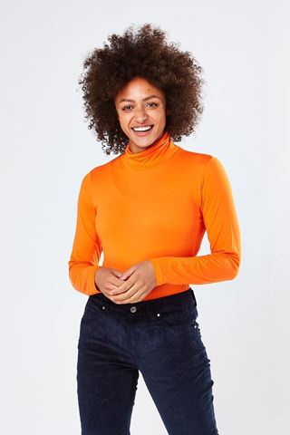 Picture of Swing out Sister Ladies Riga Roll Neck Top - Lava Fields