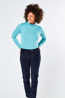 Show details for Swing out Sister Ladies Riga Roll Neck Top - Icelandic Blue