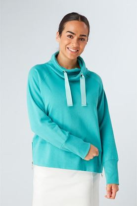 Show details for Swing out Sister Ladies Glacier LUXE Stretch Sweater - Icelandic Blue