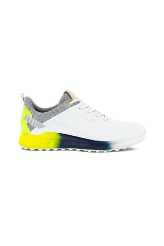 Picture of Ecco Men's Golf S-Three Golf Shoes - White / Lime Punch