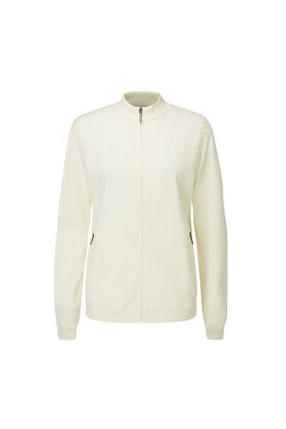 Picture of Ping Ladies Penny Lined Full Zip Sweater - Pristine