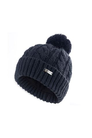 Picture of Island Green Ladies Knitted Bobble Hat with Fleece Lining - Navy