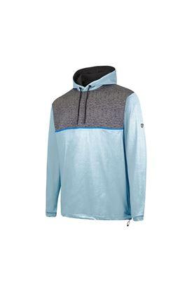 Show details for Island Green Men's Hooded Sweater - Aqua / Charcoal Marl
